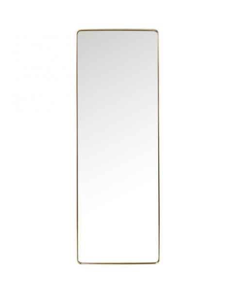 Напольное зеркало Curve Rectangular Brass 200x70cm