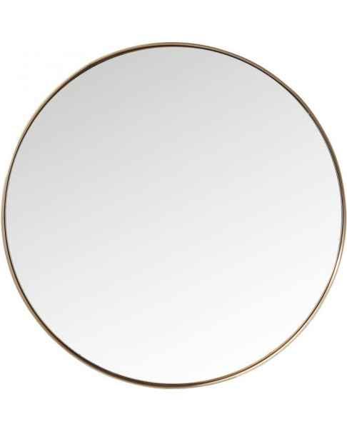 Настенное зеркало Curve Round Copper Ø100cm