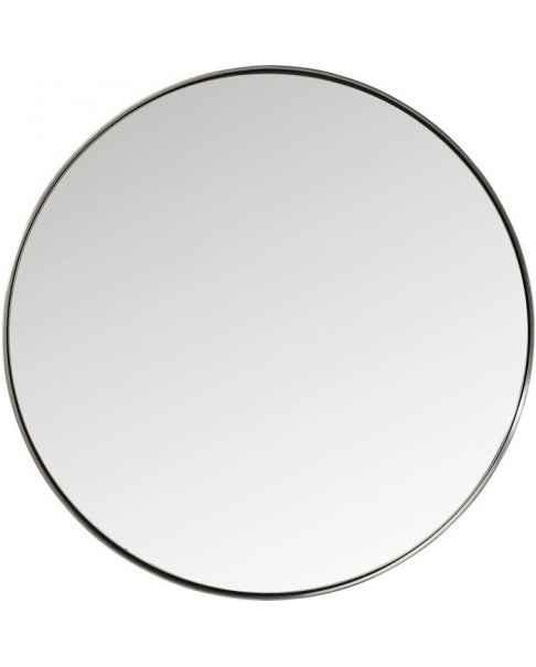 Настенное зеркало Curve Round Steel Nature Ø100cm