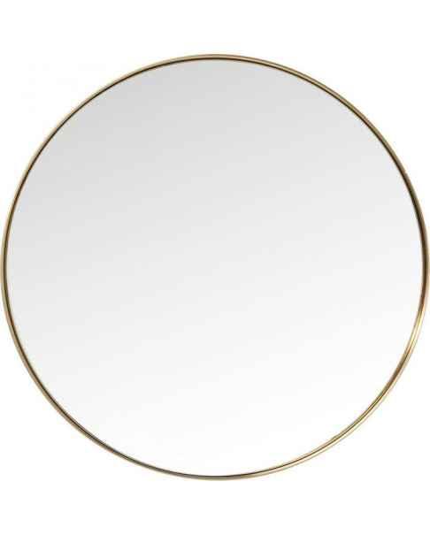 Настенное зеркало Curve Round Brass Ø100cm