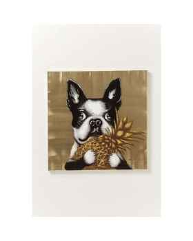 Картина Touched Dog with Pineapple 80x80cm