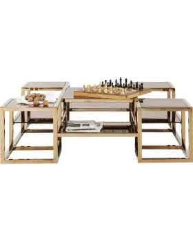 Журнальный столик Steps Gold 120x120cm
