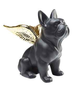 Статуэтка Sitting Angel Dog Gold-Black