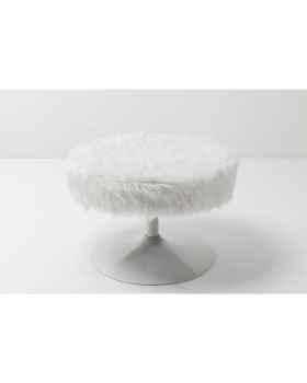 Табурет Rotante White Fur Ø60cm