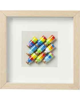 Картина в раме Rainbow Jars Square