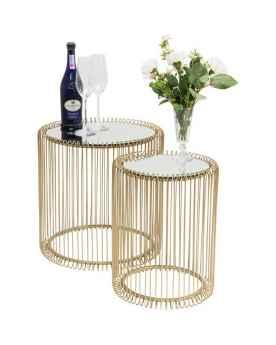 Приставной столик Wire Brass (2/Set)