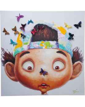 Картина Boy with Butterflys 100x100cm
