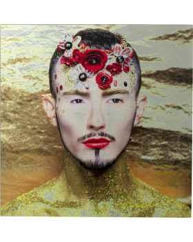 Картина на стекле Metallic Flower Man 80x80cm