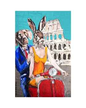 Картина маслом Animal Pair Rome 80x60cm