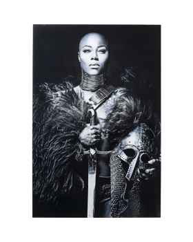 Картина на стекле Lady Knight 150x100cm