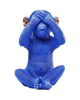 Копилка Monkey Mizaru blau
