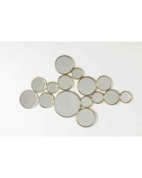 Настенное зеркало Bubbles Brass 93x138cm