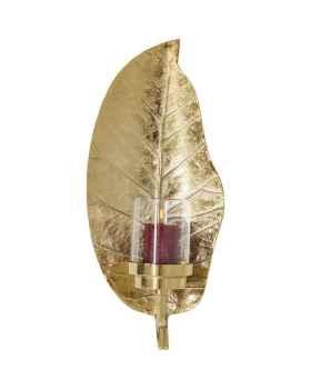 Настенный подсвечник Leaf Gold