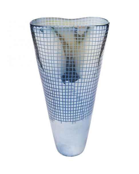 Ваза Grid Luster Blue 48cm