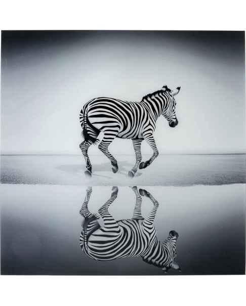 Картина на стекле Savanne Zebra 120x120cm