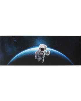 Картина на стекле Man In Space 80x240cm