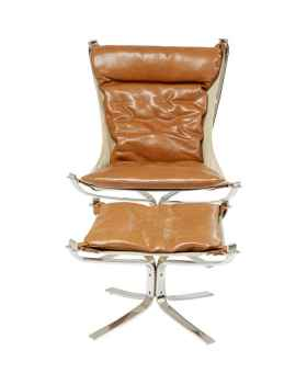 Кресло с пуфом Washington Brown