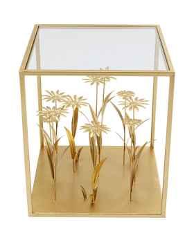 Приставной столик Flower Meadow Gold 40x40cm