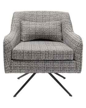 Вращающееся кресло Iceland Black White