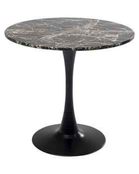 Стол Schickeria Marbleprint Black Ø80cm