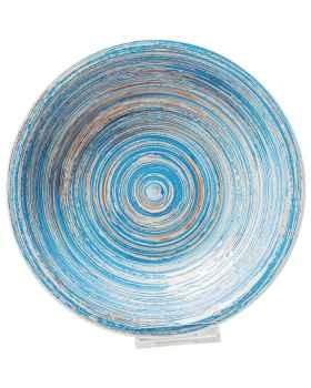 Тарелка Deep Swirl Blue Ø21cm