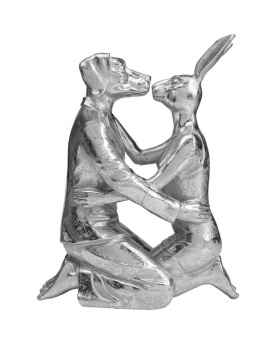 Статуэтка Kissing Rabbit and Dog Silver