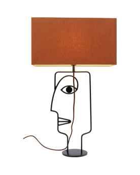 Настольная лампа Face Wire Orange