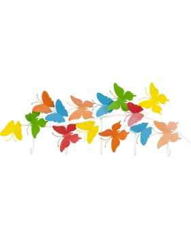Вешалка для одежды Colorful Butterflies