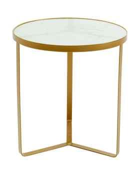 Приставной столик Marble Gold Ø45cm