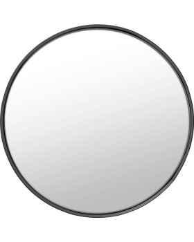 Настенное зеркало Ombra Soft Black 60Ø