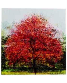 Картина на стекле Red Tree 80x80