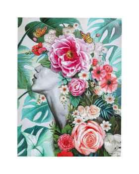 Картина маслом Flower Lady 120x90
