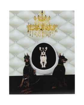 Картина на стекле Doberman Bodyguards 60x80