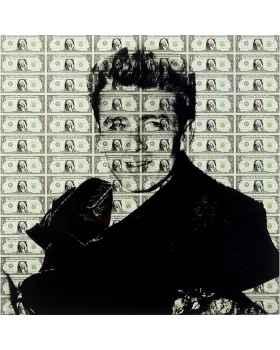 Картина на стекле Man of Dollar 100x100