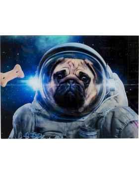 Картина на стекле Dog in Space 80x60