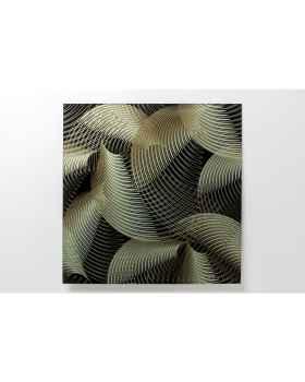 Картина на стекле Art Deco Gold 80x80