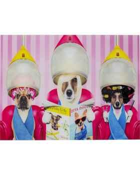 Картина на стекле Dogs Day Salon 80x60