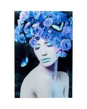 Картина на стекле Blue Queen 80x120