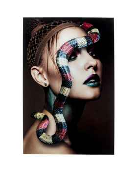 Картина на стекле Snake Girl 80x120
