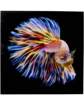 Картина на стекле Electric Fish 100x100