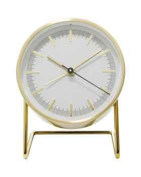 Настольные часы с будильником Levin Gold