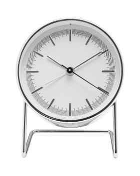 Настольные часы с будильником Levin Silver