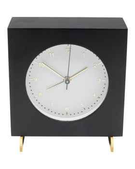 Настольные часы с будильником Kian Black