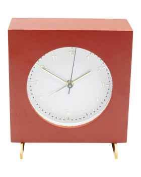 Настольные часы с будильником Kian Red