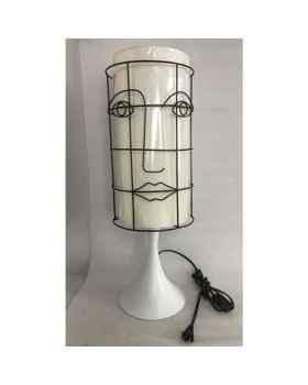 Настольная лампа Grid Face White