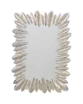 Настенное зеркало Feather Dress Silver 49x69cm