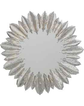 Настенное зеркало Feather Dress Silver Ø49cm