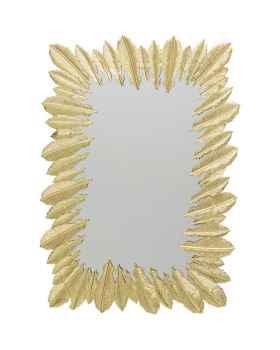 Настенное зеркало Feather Dress Gold 49x69cm