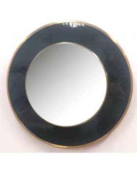 Настенное зеркало Lens Black Ø60