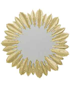 Настенное зеркало Feather Dress Gold Ø49cm